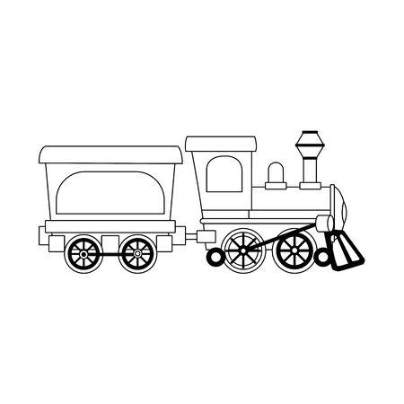 Suburban train wagon icon over white background, vector illustration