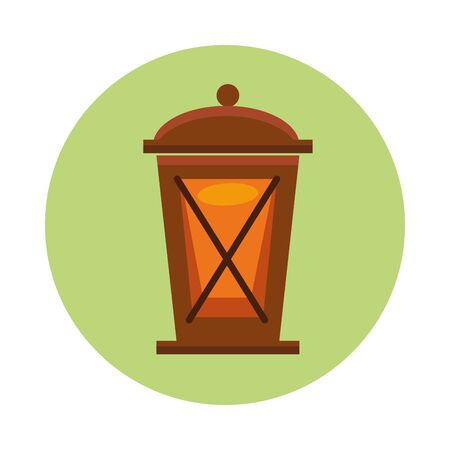 kerosene lantern antique isolated icon vector illustration design Ilustracja