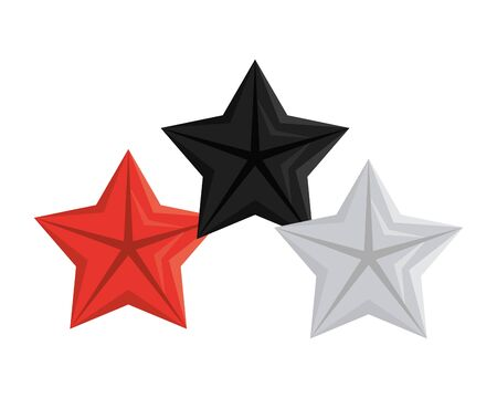 quality stars commercial isolated icons vector illustration design