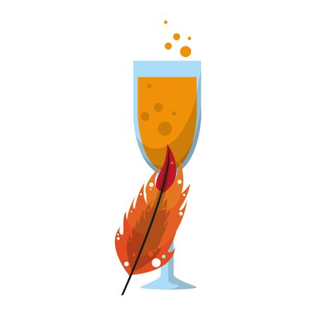 party festive celebration carnival happy entertainment, alcoholic champagne drink with decoration cartoon vector illustration graphic design