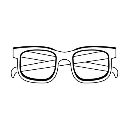 Fashion sunglasses summer isolated cartoon vector illustration graphic design Stock Illustratie