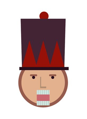 nutcracker soldier toy isolated icon vector illustration design