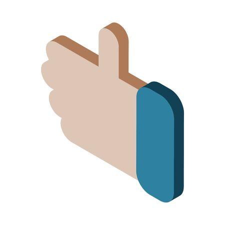 hand like social media icon vector illustration design Ilustrace