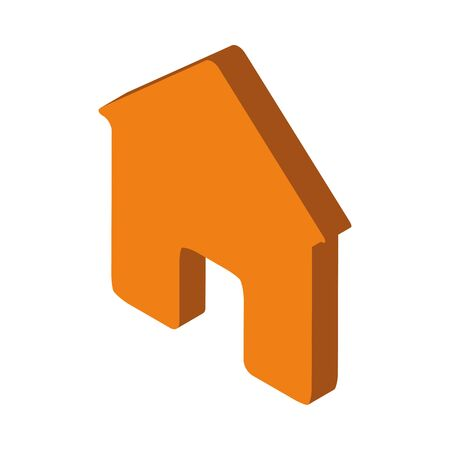 house building facade isolated icon vector illustration design  イラスト・ベクター素材