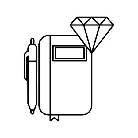diary with pen isolated icon vector illustration design 向量圖像