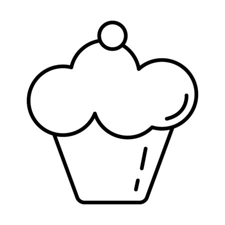 sweet cupcake delicious isolated icon vector illustration design