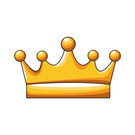 królowa korona ikona na białym tle, kolorowy design, ilustracji wektorowych Ilustracje wektorowe