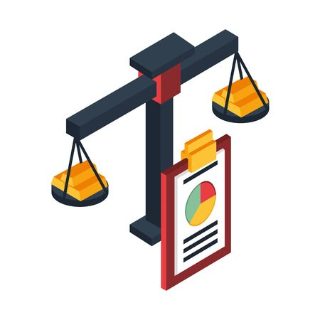 scale balance with weight lifting vector illustration design