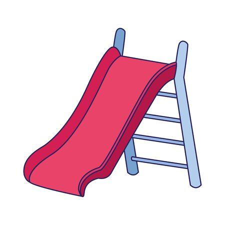 playground slice icon over white background, vector illustration