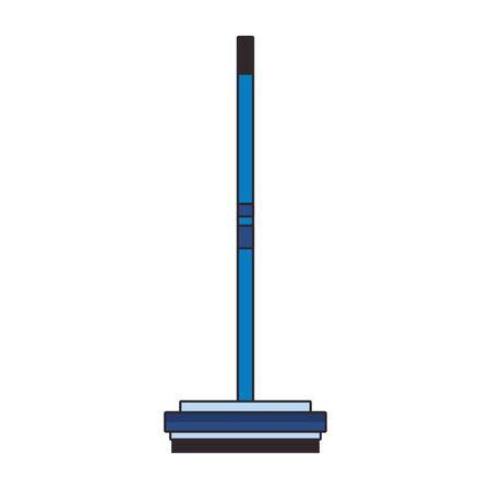 Curling broom extreme sport equipment vector illustration graphic design Ilustracja