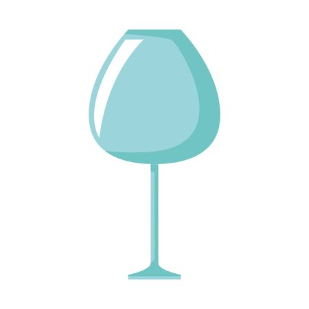 wine glass icon, over white background, vector illustration