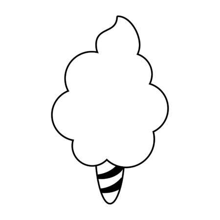 Sugar cotton candy cartoon vector illustration graphic design