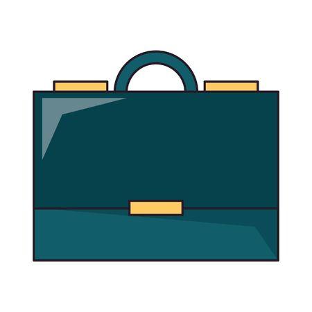 Business briefcase symbol isolated vector illustration graphic design Moon cloud and raining drop vector illustration graphic design