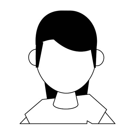 woman avatar cartoon character isolated portrait vector illustration graphic design  イラスト・ベクター素材