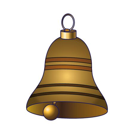 classic bell icon over white background, vector illustration Illusztráció
