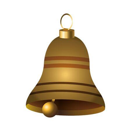 classic bell icon over white background, colorful design, vector illustration Illusztráció