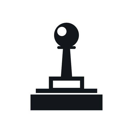 video game joystick control handle icon vector illustration design Ilustrace