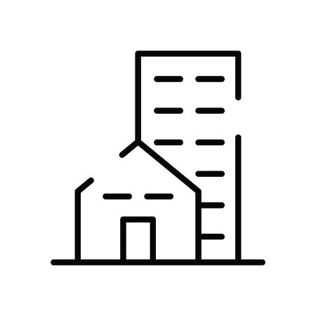 building construction urban isolated icon vector illustration design