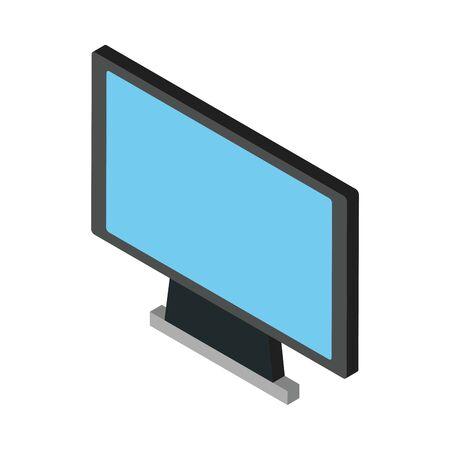 computer desktop display isolated icon vector illustration design Illustration