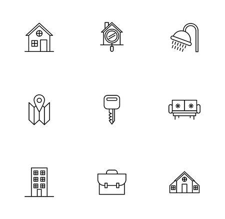 bundle of real estate set icons vector illustration design Vector Illustratie