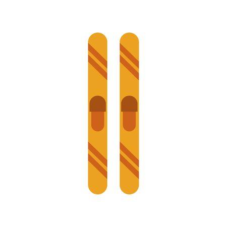 winter sport ski equipment icons vector illustration design