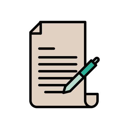 checklist document paper with pen supply vector illustration design Imagens - 135482017