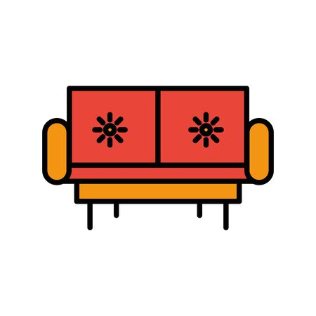comfortable sofa forniture isolated icon vector illustration design