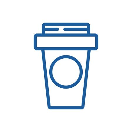 coffee in plastic container icon vector illustration design Ilustracja