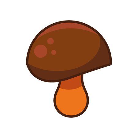 fungus autumn nature isolated icon vector illustration design