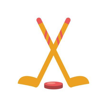 winter sport hockey equipment icon vector illustration design