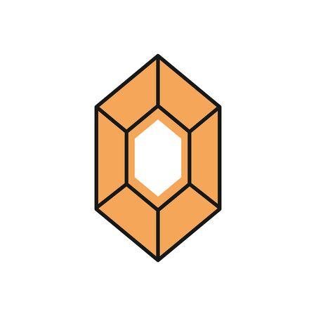 diamond stone luxury isolated icon vector illustration design