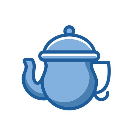kitchen teapot ceramic utensil icon vector illustration design