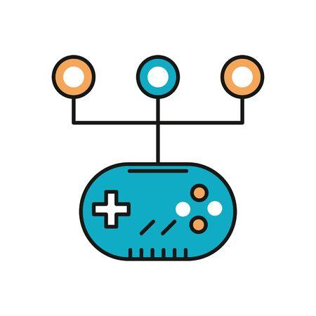 video game control handle icon vector illustration design