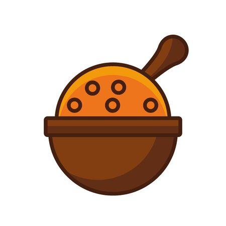 thanksgiving traditional food in bowl vector illustration design Illustration