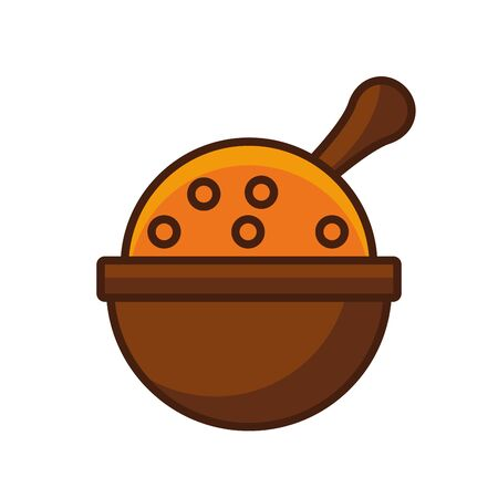 thanksgiving traditional food in bowl vector illustration design 일러스트