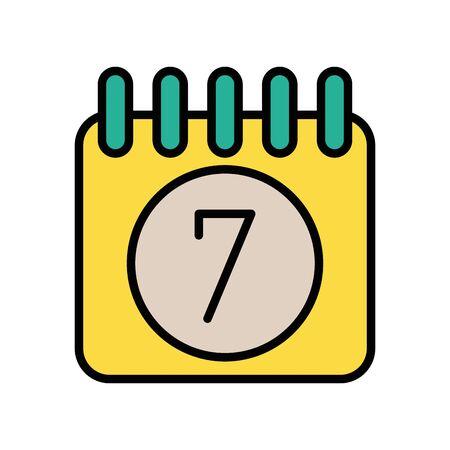 calendar reminder date with chek symbol vector illustration design