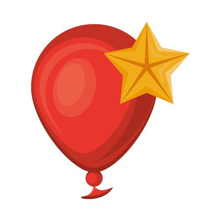 balloon helium float with star isolated icon vector illustration design Archivio Fotografico - 135494828