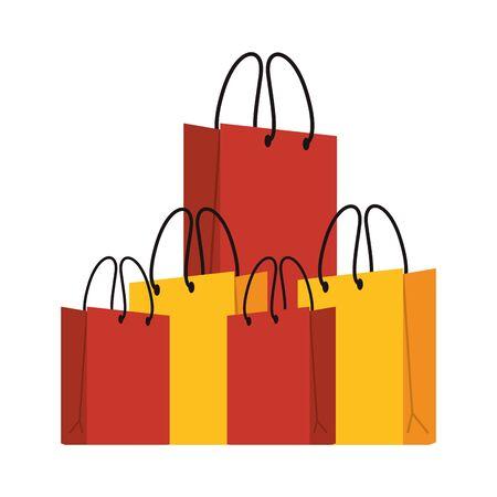 shopping retail sale store, shopping bags cartoon vector illustration graphic design Reklamní fotografie - 135499025