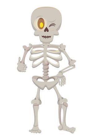 halloween skeleton bones character icon vector illustration design Ilustracja