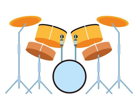 drums icon cartoon isolated vector illustration graphic design