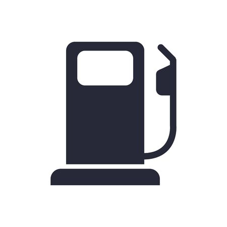 fuel station service flat icon vector illustration design Ilustracja