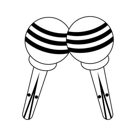 music instrument musical maracas objects cartoon vector illustration graphic design