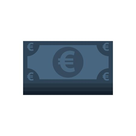 euro bills money economy icons vector illustration design