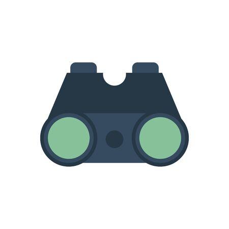 binoculars optical accessory isolated icon vector illustration design