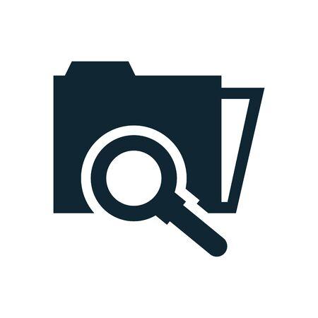folder file document with magnifying glass vector illustration design Ilustracja