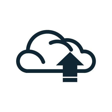 cloud computing data isolated icon vector illustration design