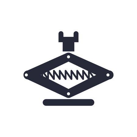 jack mechanic tool flat icon vector illustration design