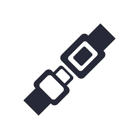 car seat belt assembly piece flat icon vector illustration design