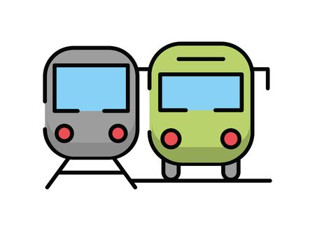 bus public transport isolated icon vector illustration design Illustration