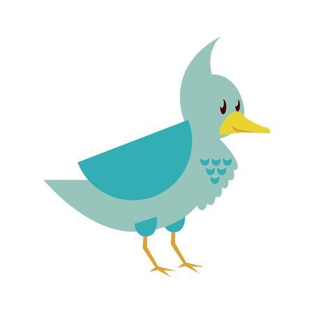 cute little bird animal character vector illustration design Illustration